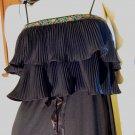 70s Sexy Senorita Spanish Dancer Flamenco Black Ruffle Tiered Full Sweep Maxi Dress S
