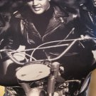 Elvis Presley Biker Graphic Photo Print Rock & Roll Rebel Shirt Top 90s Sz M