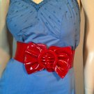 Vintage 50s 60s Blue Eyelet Lace Rockabilly Pinup Cotton Mini Slip Dress Sz 38 M