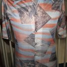 Vintage 70s Funky Scenic Photo Print Buttondown Mens Shirt Sz M