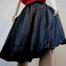 Vintage 80s Designer Christian Dior Vampy Black Silk Pleated Skirt Sz 10