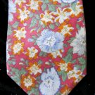 Men's Vintage Designer Liberty Of London Floral Print Cotton Spiffy Neck Tie 70s 80s