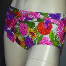 Grooviest Psychedelic MOD 60s Neon Flower Power Bikini Swimsuit Hipster Bottoms (+ fabric) S.