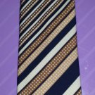 Men's Vintage 70s Swanky Stripes Geometric Print Spiffy Neck Tie AZIZO Paris