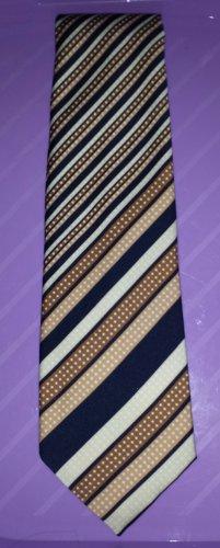 Men's Vintage 70s Swanky Stripes Geometric Print Spiffy Neck Tie AZIZO Paris