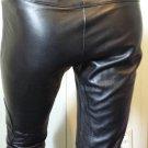 Designer LAUNDRY by SHELLI SEGAL Black Leather Biker Babe Pants Low Rise XS