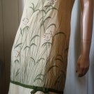 Vintage 60s COVERGIRL OF MIAMI Daisy Embroidered Linen Sheath Dress S.