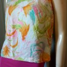 Vintage 60s CHRISTENFELD MOD Neon Colors Blouse Top Sz M