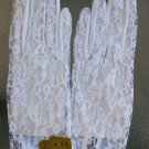 Vintage 60s 70s Ladies Glamorous White Sheer Chantilly Lace Nylon Gloves NEW MINT Size 7 1/2-8 1/2 B