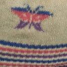 Vintage 80s JORDACHE Butterfly Print Ski Bunny Snow Sweater MINT NOS M
