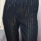 Disco Lady vintage Electro Gold Pinstripe High Waisted Dress Pants S. glam