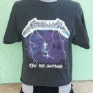 RARE Vintage 90s Metallica Ride The Lightning 1994 Concert Tour T Shirt 2-Sided! Glow in the dark! L