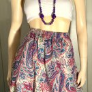 Vintage 70s ALFRED DUNNER Psychedelic Paisley Print Boho Hippie Cotton Skirt Sz 10