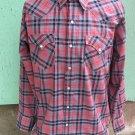 VTG 70s H BAR C Ranchwear Long Tail Pearl Snap Bluegrass Rockabilly Western Mens Shirt Sz 17/35 XL