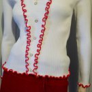 BE MY GROOVY VALENTINE Vintage 60s 70s MOD Ruffle Sweetheart Top Sz S