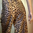 ROCKIN Vintage 60s 70s Leopard Animal Print Super High Waisted Wide Leg Jungle Kitty Pants L