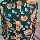 Vintage MOD 70s Cheetahs in a Psychedelic Jungle Mens Novelty Print Disco Cat Shirt Sz L