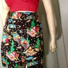 RARE VTG 90s Nicole Miller Limited Edition BEER Cerveza Corona Novelty Print Silk Party Shorts Sz M