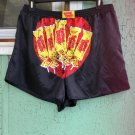 SUGAR DADDY Retro Candy Men's Novelty Black Satin Boxer Shorts XXL