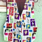 Vintage 90s Looney Tunes Characters Novelty Print Vest S/M