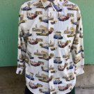 Classic 60s Muscle Cars Novelty Print Mens RETRO Shirt Sz M