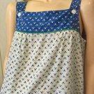 Vintage 70s HOLLY HOBBIE Style Floral Jumper Prairie Dress SZ L