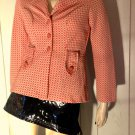Vintage 60s 70s Groovy MOD Checkered Fitted Blazer Jacket S