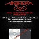 Anthrax - Live Album Collection 2007-2014 (4CD)