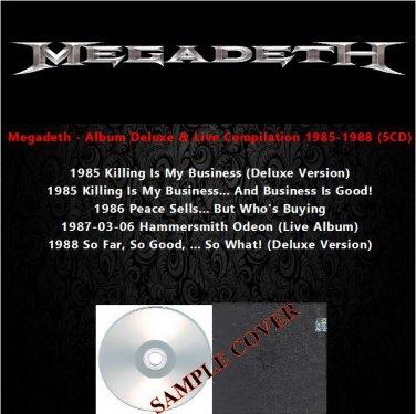 Megadeth - Album Deluxe & Live Compilation 1985-1988 (5CD)