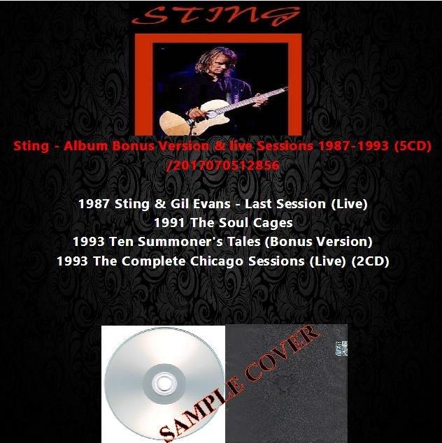 Sting - Album Bonus Version & live Sessions 1987-1993 (5CD)