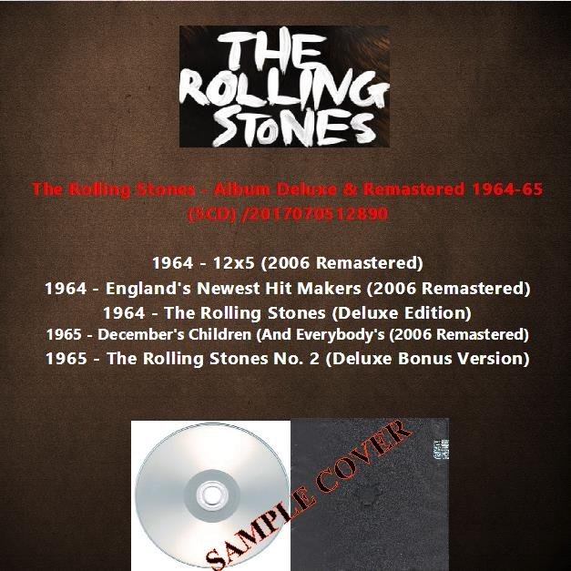 The Rolling Stones - Album Deluxe & Remastered 1964-65 (5CD)