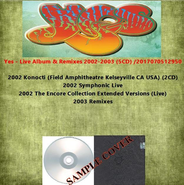 Yes - Live Album & Remixes 2002-2003 (5CD)