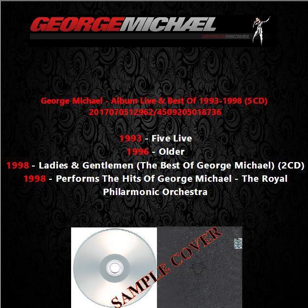 George Michael - Album Live & Best Of 1993-1998 (5CD)
