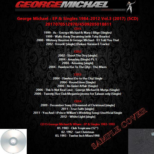 George Michael - EP & Singles 1984-2012 Vol.3 (2017) (5CD)