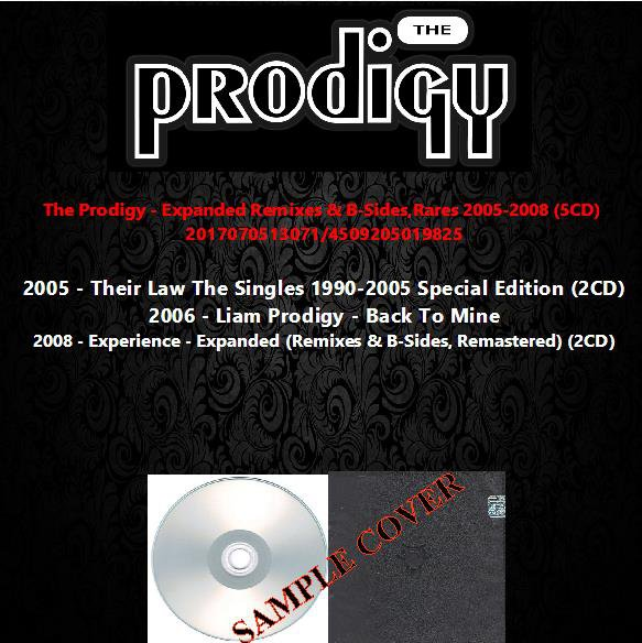 The Prodigy - Expanded Remixes & B-Sides,Rares 2005-2008 (5CD)