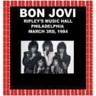 Bon Jovi - Ripley's Music Hall, Philadelphia, March 3rd, 1984 (2018 Silver Pressed Promo CD)*