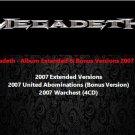 Megadeth - Album Extended & Bonus Versions 2007 (Silver Pressed 6CD)*