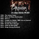 Anthrax - Live Album Collection 1994-2018 (10CD Promo Edition 2020)