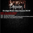 Anthrax - EPs & Singles 1985-2013 + Demos & Remastered 1982-1987 (14CD Promo Edition 2020)