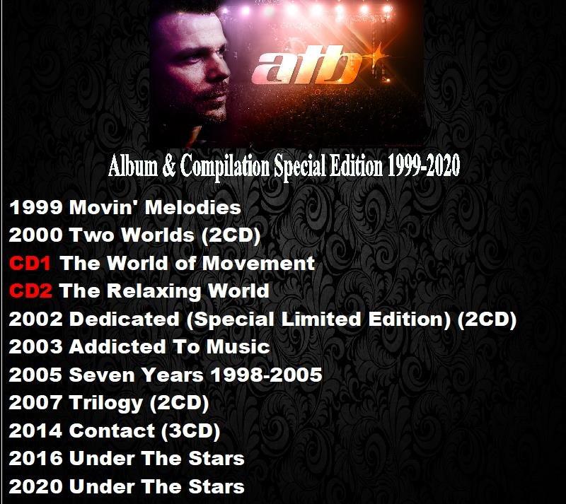 ATB - Album & Compilation Special Edition 1999-2020 (19CD Promo Edition 2020)