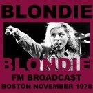 Blondie - Blondie FM Broadcast Boston November 1978 (2020) CD