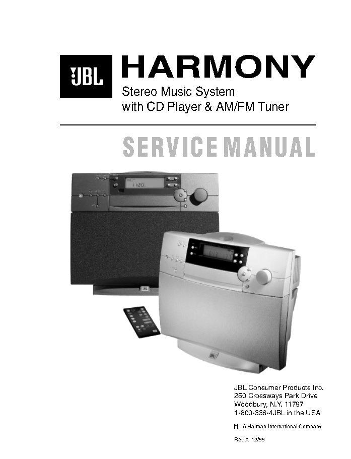 JBL Harmony Service Manual