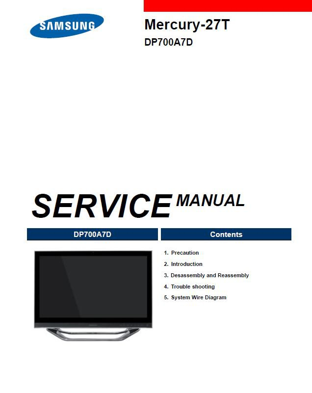 Samsung Mercury-27T ,DP700A7D Service Manual