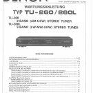 Denon TU-260 ,TU-260L Stereo Tuner Service Manual PDF