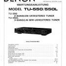 Denon TU-550 ,TU-550L Stereo Tuner Service Manual PDF