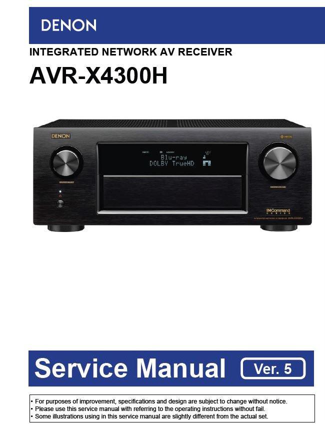 Denon AVR-X4300H Ver.5 AV Receiver Service Manual PDF