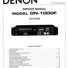 Denon DN-1000F CD Player Service Manual PDF