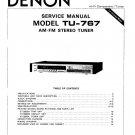 Denon TU-767 Stereo Tuner Service Manual PDF