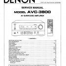Denon AVC-3800 Surround Amplifier Service Manual PDF