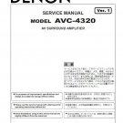 Denon AVC-4320 Ver.1 Surround Amplifier Service Manual PDF